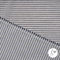 Woven Recycled Eco-Fabric - Stripes - Blue