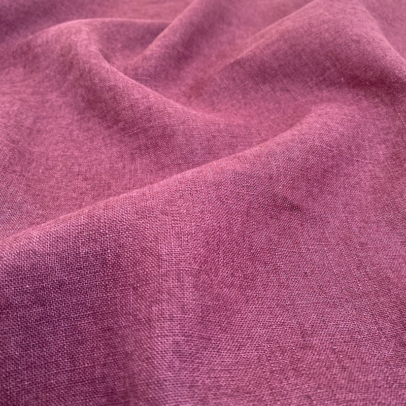 Enzyme Washed Linen - Eggplant - 0.5 metre