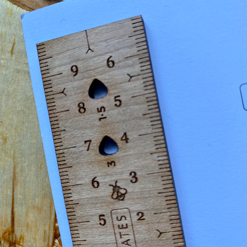 Wooden Sewing Ruler by Jenerates