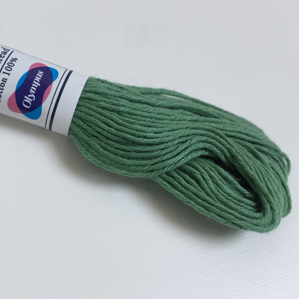 Olympus Japanese Sashiko Thread - 20m - Forest Green (#07)