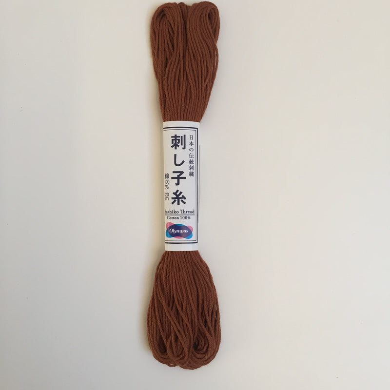 Olympus Japanese Sashiko Thread - 20m - Brown (#03)