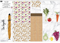 Fruit and Veg Shopping Bag Fabric Panel