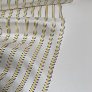 Cupro Lining Fabric - Yellow/Black Stripes - 0.5 metre