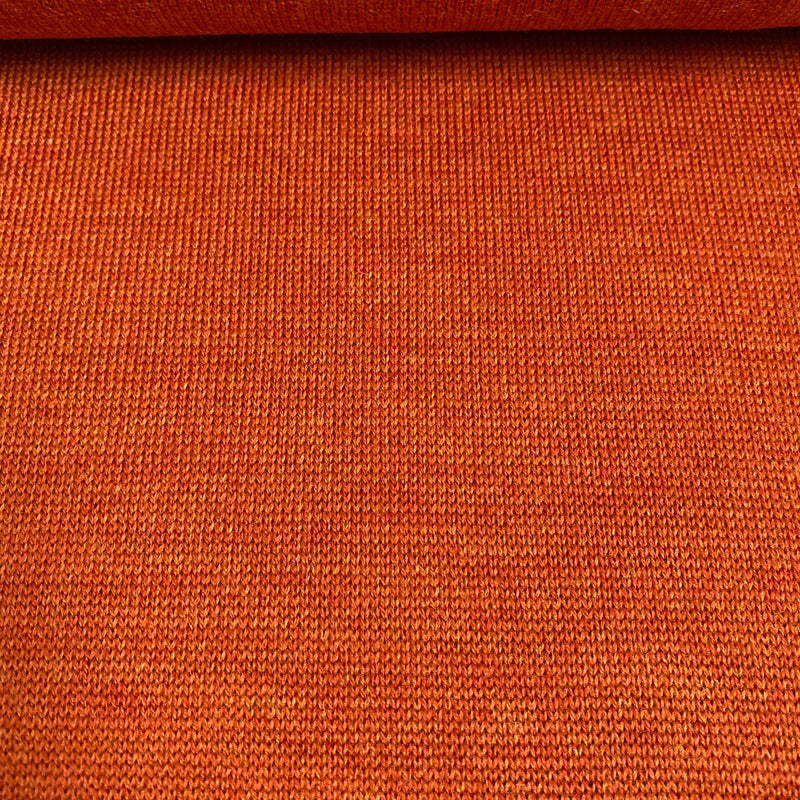 Fine Merino Knit - Burnt Orange - 0.5 metre