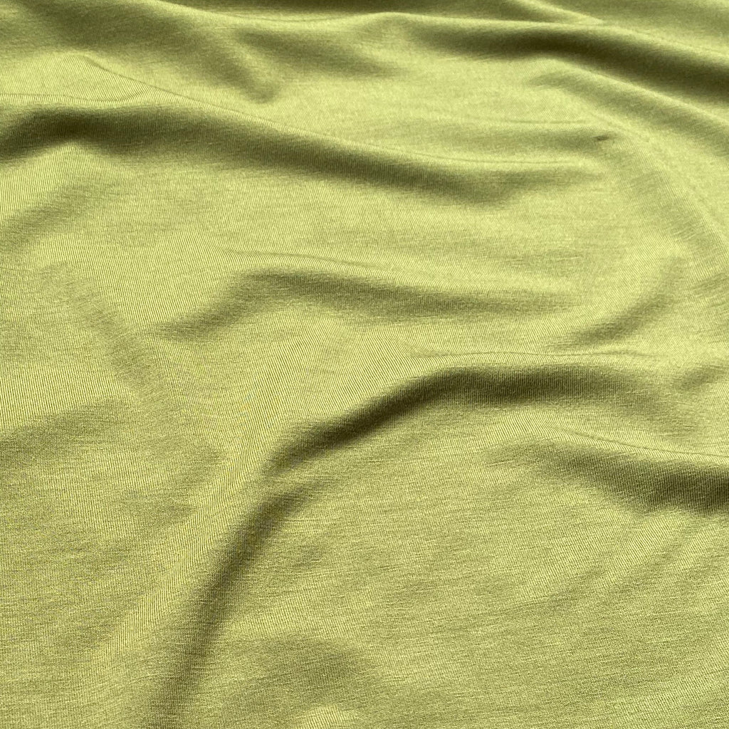 Bamboo Jersey - Olive Green - 0.5 metre