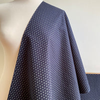 Japanese Cotton Fabric - Kuki - Navy - 0.5 metre