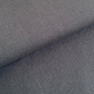 Enzyme Washed Linen - Anthracite Grey - 0.5 metre