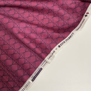 Organic Cotton by Cloud9 - Diamond Lines - 0.5 metre