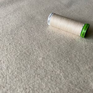 Organic Cotton Molleton Fabric - natural, unbleached