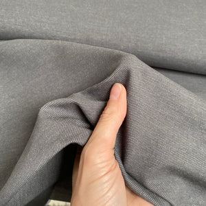 Organic Stretch Denim - Middle Grey - 0.5 metre