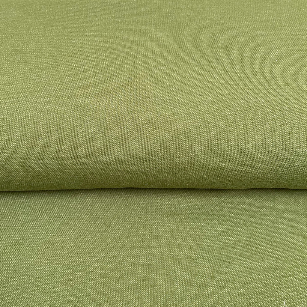 Organic Stretch Denim - Olive - 0.5 metre