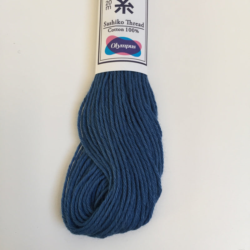 Olympus Japanese Sashiko Thread - 20m - Mid Blue (#10)