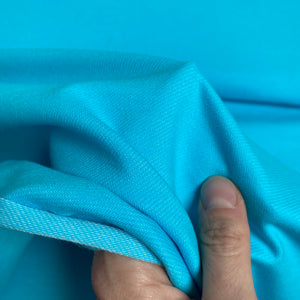 Organic Stretch Denim - Turquoise - 0.5 metre
