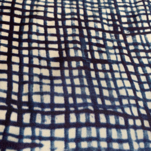 Cupro Lining Fabric - Indigo Cross Hatch - 0.5 metre