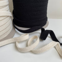 Organic Bra Strap Elastic - 11mm - Available in Ecru and Black