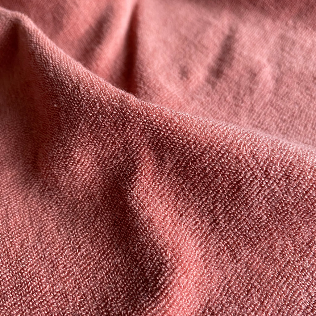 Organic Terry Cloth Towelling Fabric - powder pink
