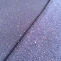 Speckled French Terry (brushed) - Navy - 0.5 metre