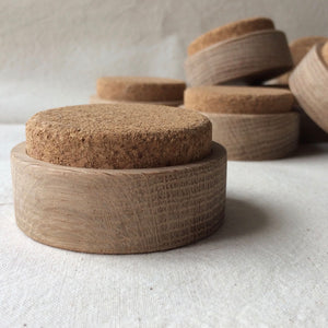 Cork Pin Cushion with Oak Base