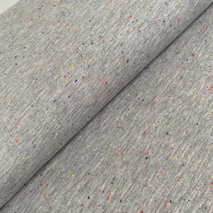 Speckled French Terry (brushed) - Grey - 0.5 metre