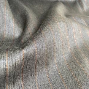 Linen/Viscose Mix Fabric - Lurex Stripes - Taupe - 0.5 metre