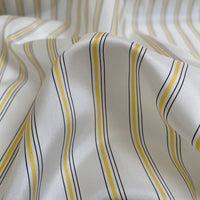 Cupro Lining Fabric - Yellow/Black Stripes