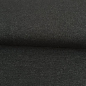 Organic Stretch Denim - Black - 0.5 metre