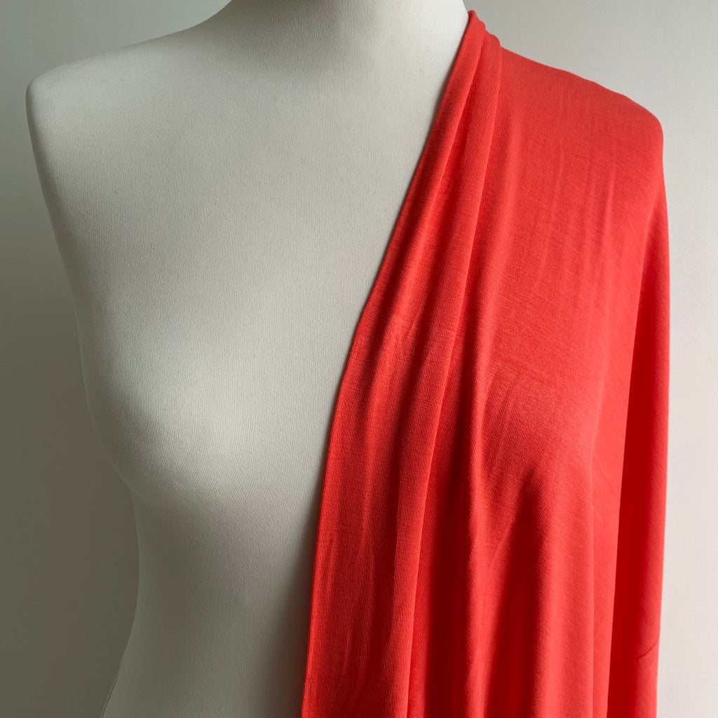 Bamboo Jersey - Coral - 0.5 metre