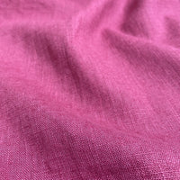 Enzyme Washed Linen - Cerise Pink - 0.5 metre