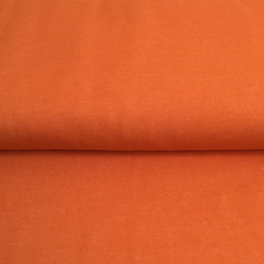 Organic Stretch Denim - Harvest Pumpkin - 0.5 metre