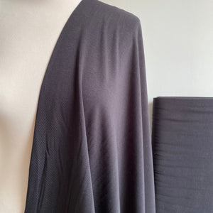 Organic Cotton Jersey - Black - 0.5 metre