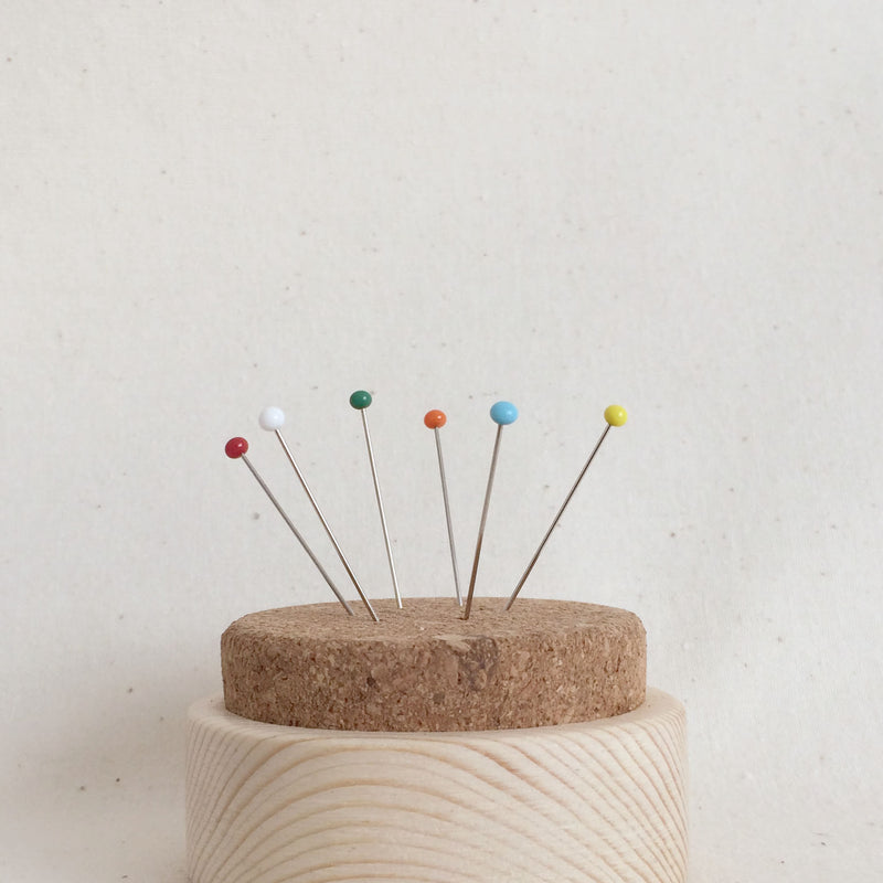 Cork Pin Cushion with Pine Base