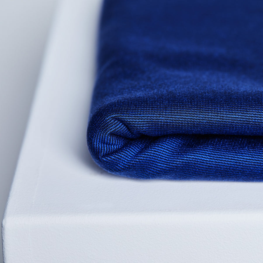 Textured Ponte with TENCEL™ Lyocell fibres - Lapis - 0.5 metre
