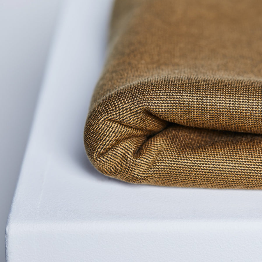 Textured Ponte with TENCEL™ Lyocell fibres - Mustard - 0.5 metre