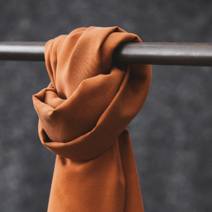 Smooth Drape Twill with TENCEL™ Lyocell fibres - Rust - 0.5 metre