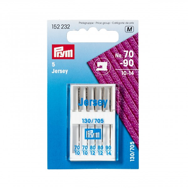Prym Jersey Sewing Machine Needles, Assorted, Pack of 5
