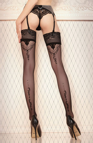 Ballerina 423 Lace Top Hold-Ups