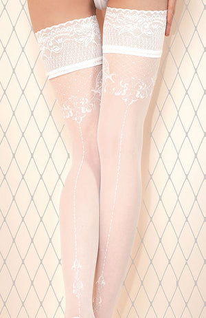 Ballerina 433 Lace Top Hold-Ups