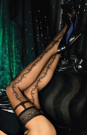 Ballerina 444 Lace Top Hold-Ups