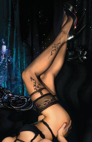 Ballerina 446 Lace Top Hold-Ups