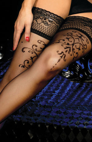 Ballerina 447 Lace Top Hold-Ups