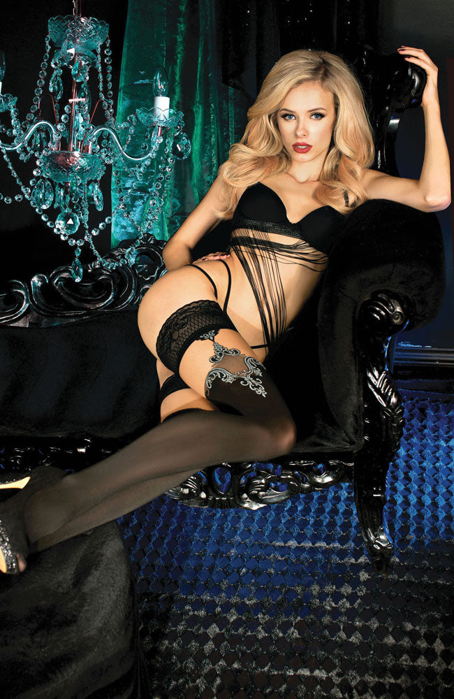 Ballerina 450 Lace Top Hold-Ups