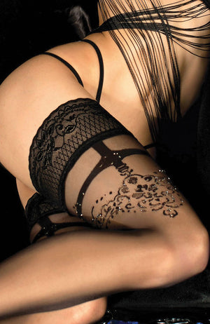 Ballerina 451 Lace Top Hold-Ups