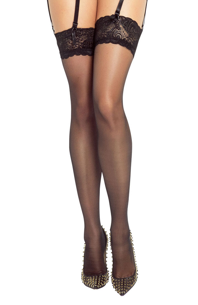 Provocative Collection Lace Top Hold-Ups