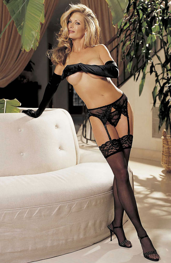 Shirley of Hollywood Lace Top Stockings