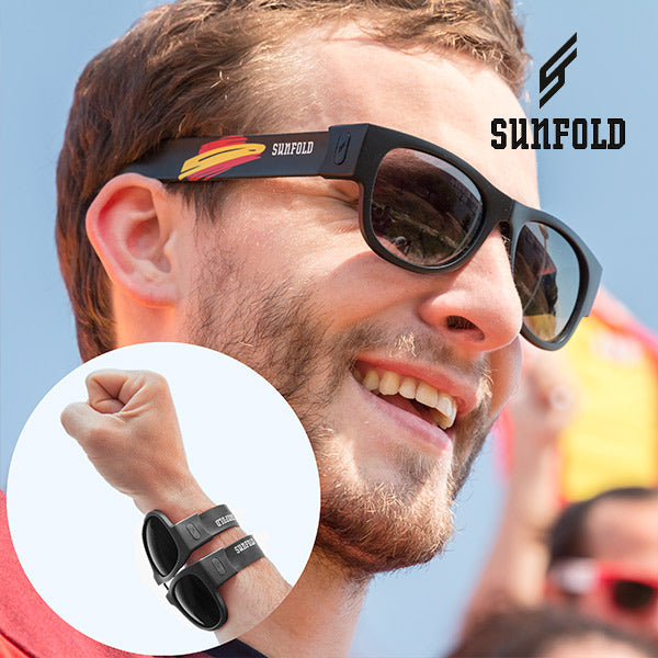 Black Sunfold Spain World Cup Roll-Up Sunglasses