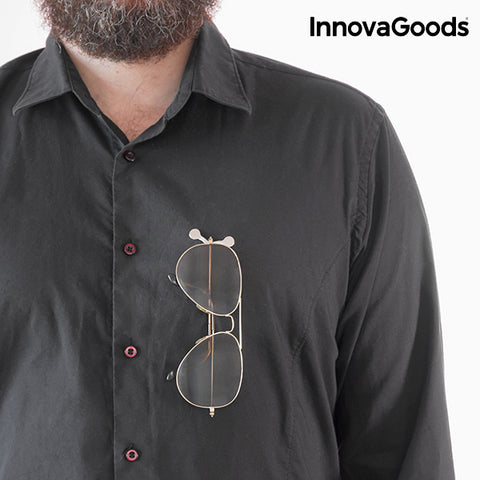 InnovaGoods Magnetic Glasses Holder (Pack of 2)