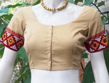 Cotton Blouse with Hand embroidery & Mirror work - size 38