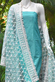 Elegant Net dupatta with Embroidery & Stitched borders