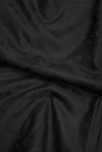 Fine Woven Black Silk Cotton fabric