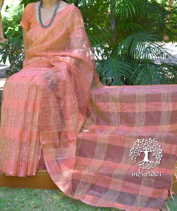 Elegant Faux Organza and Geecha saree